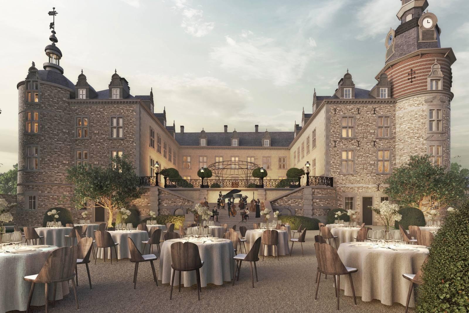 Château de Mirwart_feestopstelling buiten (1)