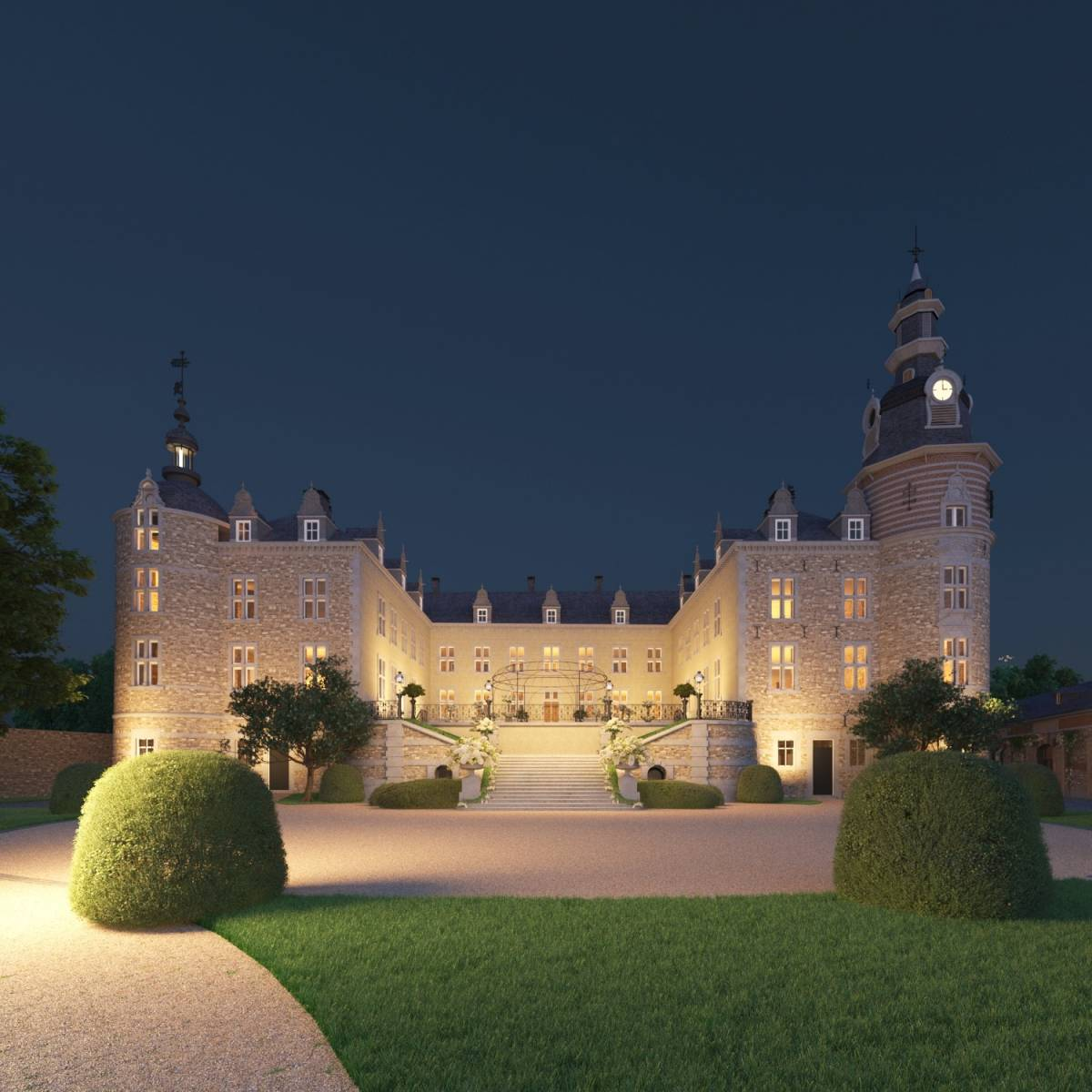 Château de Mirwart_marriage_soir_1