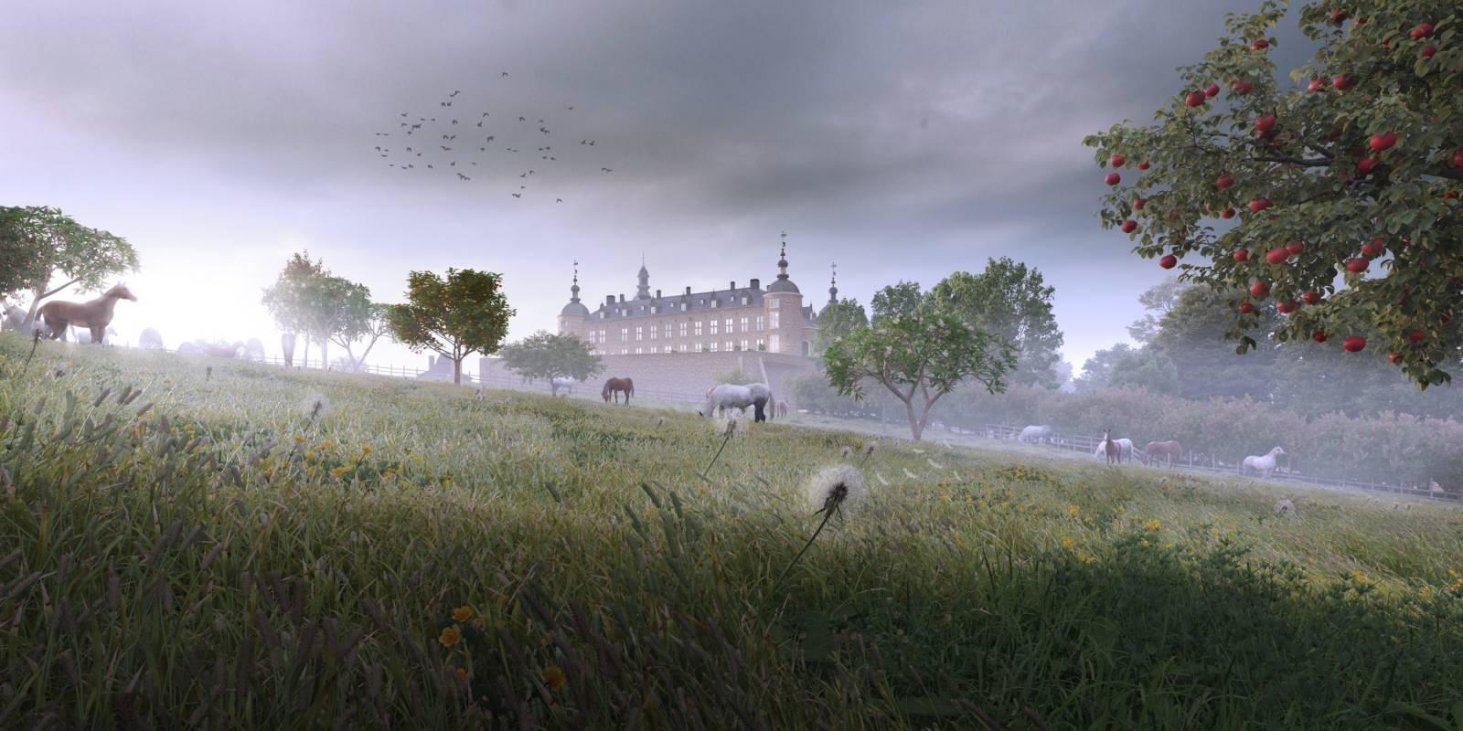 Château de Mirwart_zicht